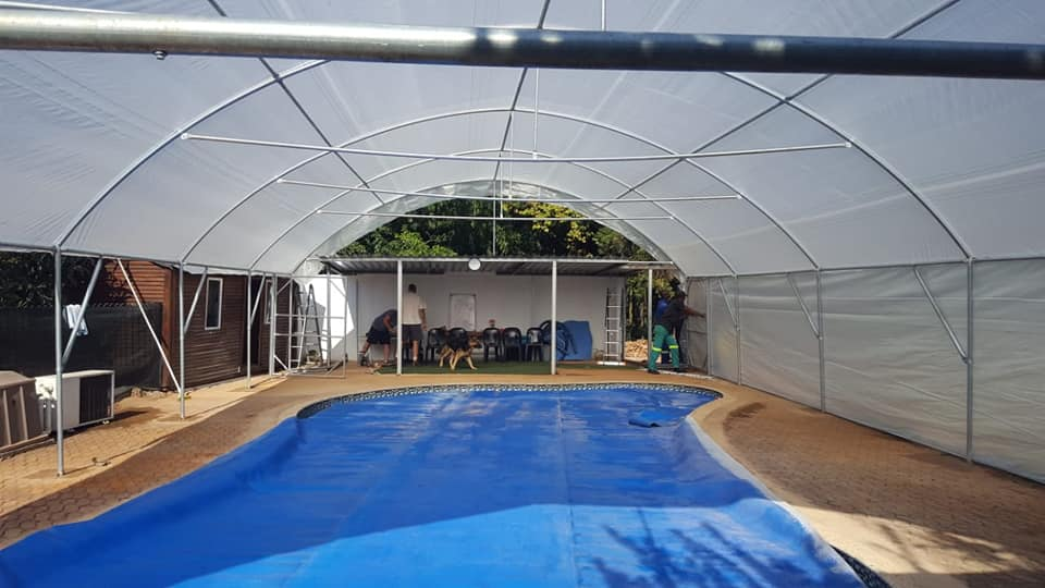 Pool Covering Tunnel